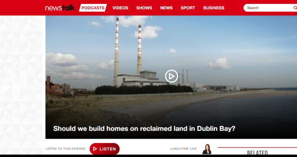 Lorna Kelly of SAMRA interview re building proposal on Sandymount Strand on Newstalk